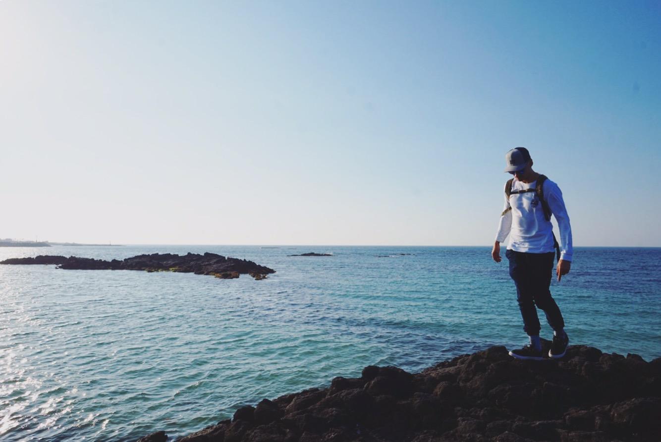 James at Jeju, South Korea