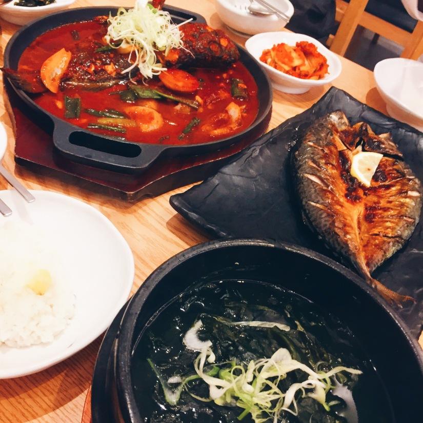 Traditional Jeju banquet