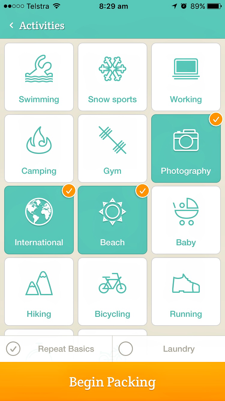 Best free travel apps PackPoint